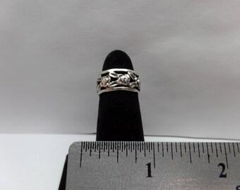 Vintage Sterling Silver Rose Ring / FCM