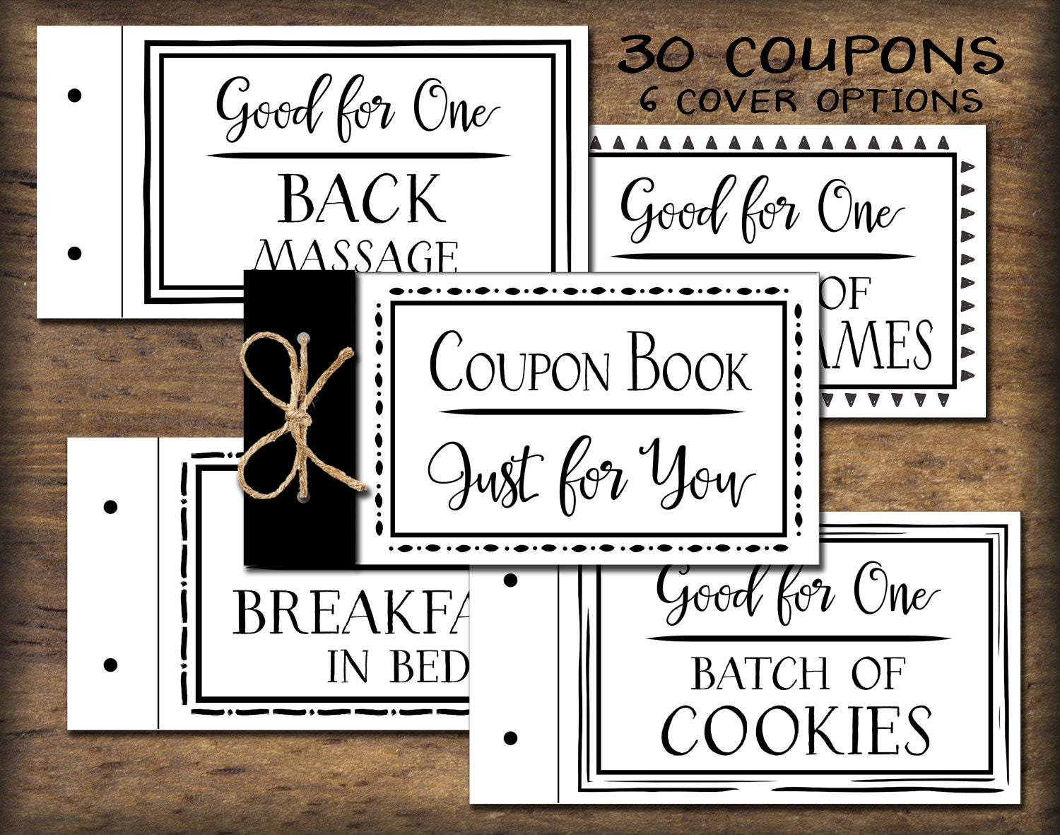 coupon book  printable gift idea  instant download  diy pdf