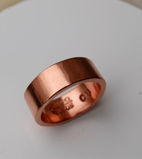 PURE HARMONIOUS COPPER Ring 7mm Copper Ring Wide Ring