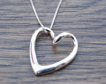 Sterling Silver Polished Heart Pendant DB1E