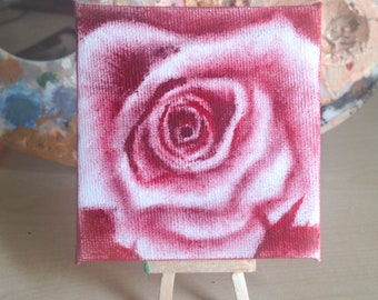 small flower oil painting (itty biddy)