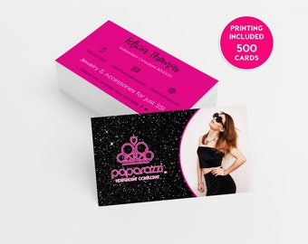 Rose gold lipsense business card design 500 business cards glitter black paparazzi business card design 500 business cards printed template personalized calling card independent consultant pink colourmoves