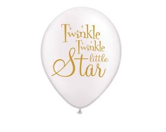 Twinkle Twinkle Little Star Balloons, Twinkle Twinkle Little Star Baby Shower Decorations, Baby Shower Decor, Gender Reveal, 1st Birthday
