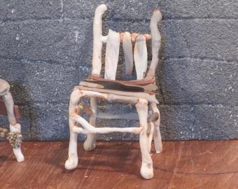 Miniature grave yard slat chair