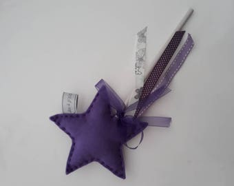 Magical felt star wand
