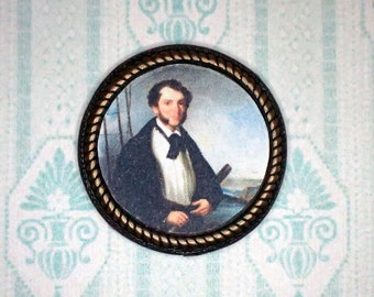 Miniature 1:12 Dollhouse Painting - George Chinnery - A Merchant Naval Captain