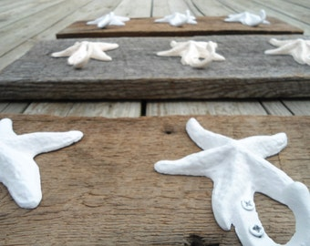 Rustic beach home decor barn wood wall hooks jewelry organizer coat rack scarves decor kitchen towels