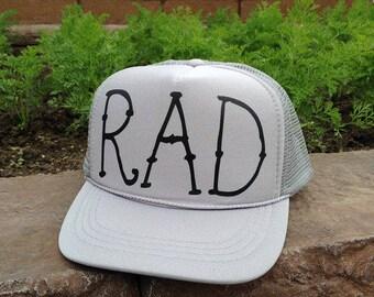 Rad Kids Youth Trucker Hat Toddler Hat Rad Hat Little Boys Hat Trucker Hat Kids Trucker Hats