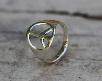 Peace Ring, Peace Sign, Rings, Silver Ring, Sterling Silver Ring, Fashion Ring, Silver Jewellery, Antique Ring, Antique Jewellery