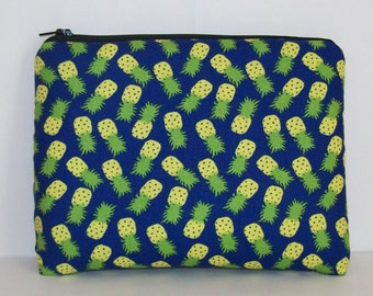 "Pipe Pouch, Pineapple Bag, Pipe Case, Pipe Bag, Padded Pipe Pouch, Fruit Bag, Cute Bag, Hippie Gift, Padded Zipper Bag , 7.5"" x 6"" - X LARGE"