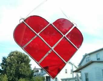 Red Heart Stained Glass - #410