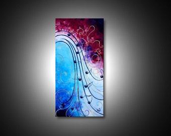 Music wall art - music art, modern paintings, CANVAS art PRINTs, abstract canvas art, abstract painting, giclee print, modern art, 15x30