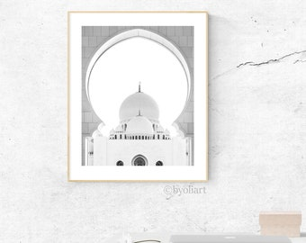 Architecture  poster. Mosque printable photography. Marrakech poster. Instant download