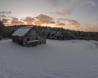 Sunset with Barn, Western Massachusetts