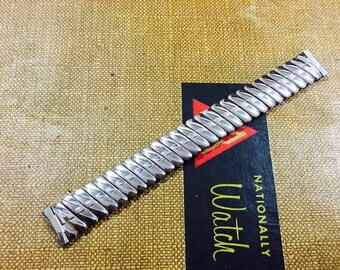 Vintage Stainless Steel Foster Scissor Expansion Watch Band - 15mm Lugs - W167