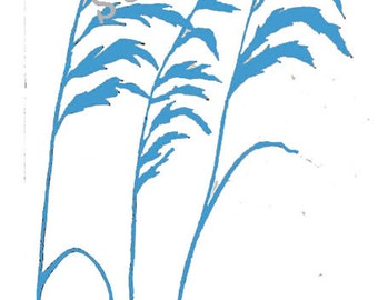 Sea Oats STENCIL (Reusable)Different Sizes Available, Ocean, Plants