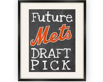 New York Mets- Future Draftpick Chalkboard Print