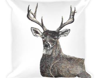 Deer Square Pillow