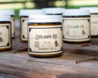 Vanilla Tobacco - Scented Soy Candle - Vegan - Hand Poured