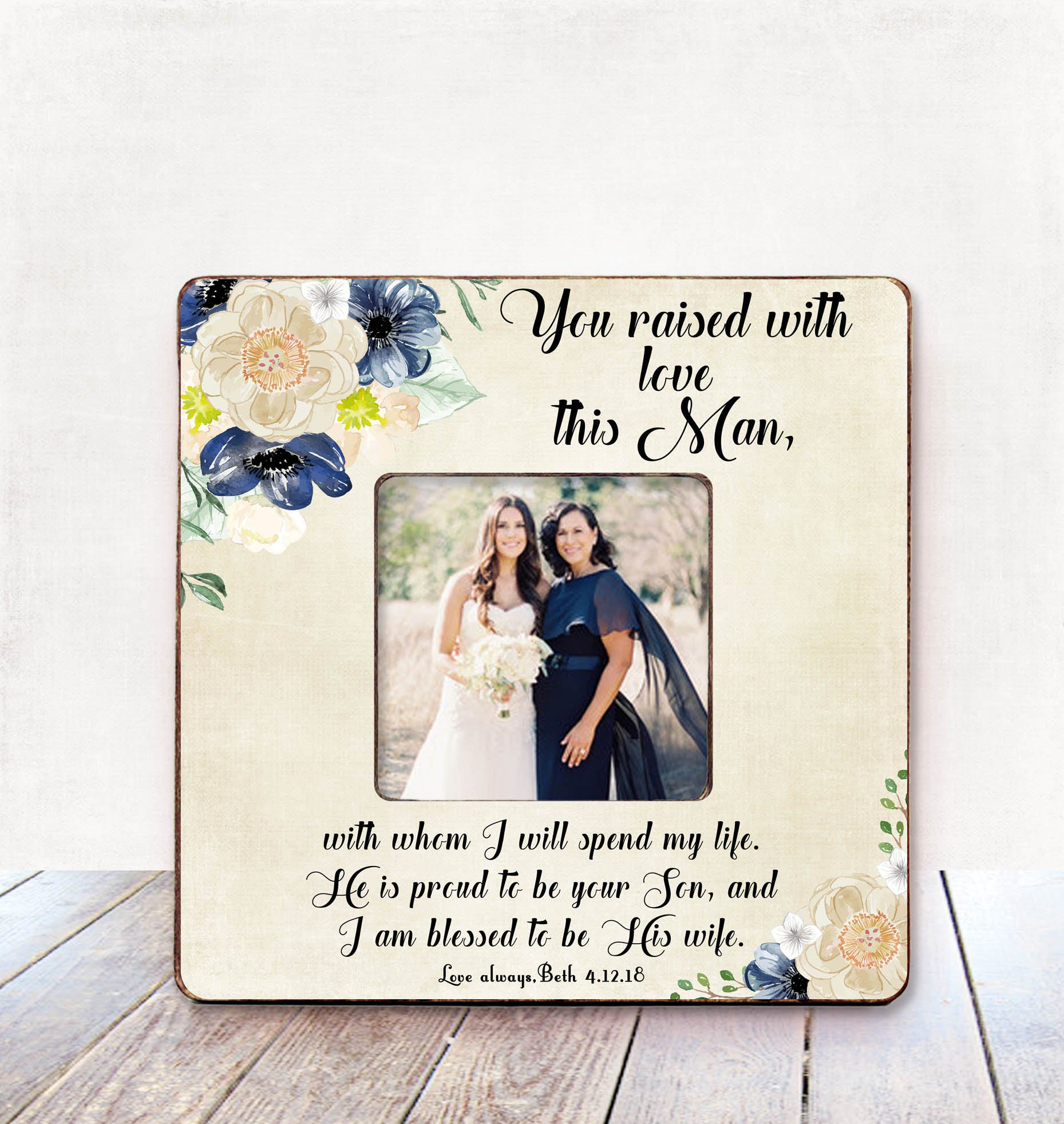 Mother in law wedding gift from bride mother of he groom gift
