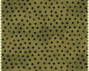 Black Cat Crossing Olive Dot (9015G) by Maywood Cotton Fabric Yardage