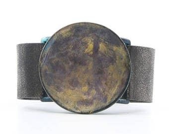 Craft Patina Bowl Leather Bracelet