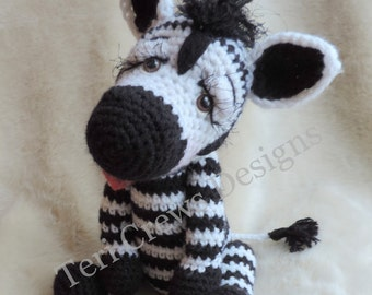 Simply Cute Zebra Crochet Pattern by Teri Crews