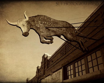 Longhorn Saloon Fort Worth Western Home Decor Texas Photography Prints Southwestern Cowboy Boots