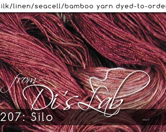 From the Lab - DtO 207 Silo on Silk/Linen/Seacell/Bamboo Yarn Custom Dyed-to-Order