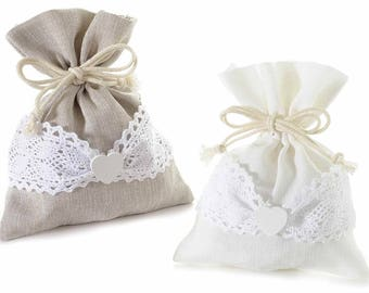 Cotton Bags Gift Pouches Party Favor Set of 10