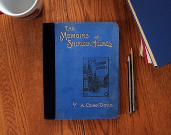 Memoirs of Sherlock Holmes Book Cover Faux Suede Notebook in 3 Sizes!