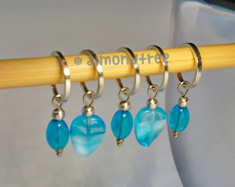Ocean Blue stitch markers knitting accessories tool snagless id1785012 knit stitchmarkers gift knitter tools snag free