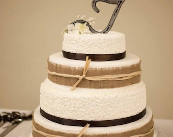 Horseshoe Monogram Cake Topper