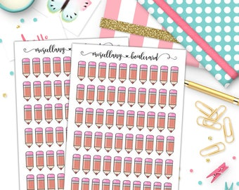 Pencil Planner Stickers   0241
