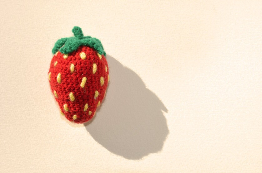 Strawberry Crochet Pattern Amigurumi Strawberry Crochet