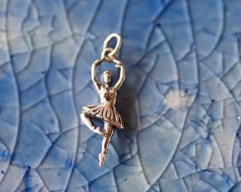 Ballerina Charm - Sterling Silver Ballerina - Silver Ballet Charm - Dancer Charm - Ballet Charm- Ballet Jewelry- Ballet  - Gift For Her