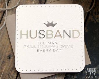 Beautiful Husband card / Husband birthday card / Husband anniversary card / Husband valentines card / MT10