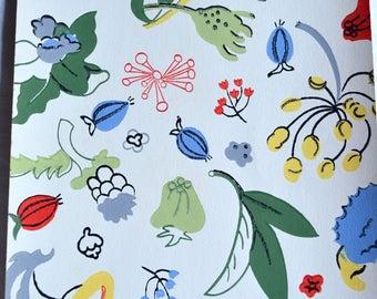 Vintage Wallpaper - Modern Floral Sheet
