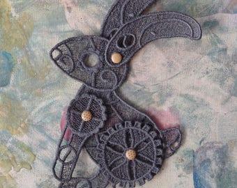 custom lace rabbit steampunk