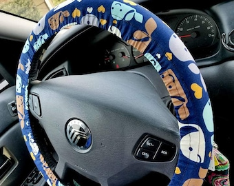 WHALE WHALE WHALE Steering Wheel Cover