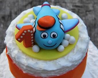 Birthday cake topper boy, Boy birthday party, Custom cake topper, Personalized cake topper, Babies cake topper, 1st cake topper, Clay topper