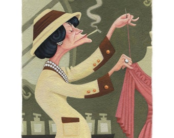 Coco Chanel, 8.5x11 print