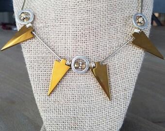 Pentagon Choker Necklace