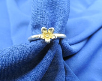 Daisy Flower Ring Size 8, Vintage Jewelry, Rings For Women