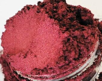 FangbangerDeep RED mineral makeup eye shadow 10 g jar red eyeshadow eyeliner smokey eyes Natural Organic Vegan LUster Sheen