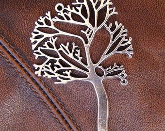 3 pendants tree in antique silver, 69mm x 41mm