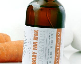 BODY TAN MAX • Organic Tanning Booster Oil Serum. Maximize your body tanning the natural way.
