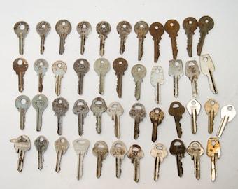 Steampunk Rusty Metal vintage  unusual Keys - of set 45