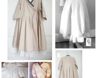 Child's wrap dress