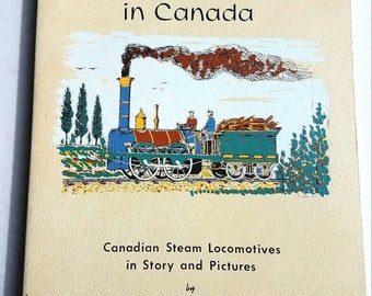 Farewell to Steam in Canada by N. H. Mika. 20 hand-screened prints. Steam locomotives. Trains. Train art. Railroad history. Canada history.